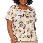 Alfred Dunner® Short-Sleeve Butterfly Tee - Plus