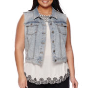 a.n.a® Denim Vest - Plus