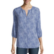 Stylus ™ 3/4-Sleeve Peasant Shirt