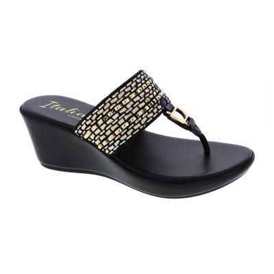 02c75e3e57b45 Italiana By Italian Shoemakers Womens Daphne Wedge Sandals - JCPenney