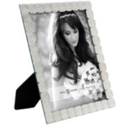 White Jeweled Picture Frame