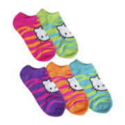 Hello Kitty® 5-pk. Wild-Print No-Show Socks