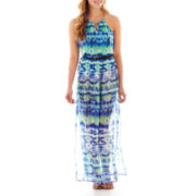 As U Wish® Sleeveless Blouson Maxi Dress