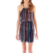 As U Wish® Print Halter Dress