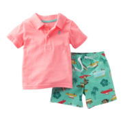 Carter's® Aloha Polo Short Set - Boys newborn-24m