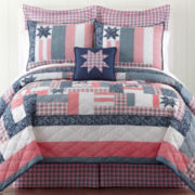 Home Expressions™ Honor & Grace Americana Quilt & Accessories