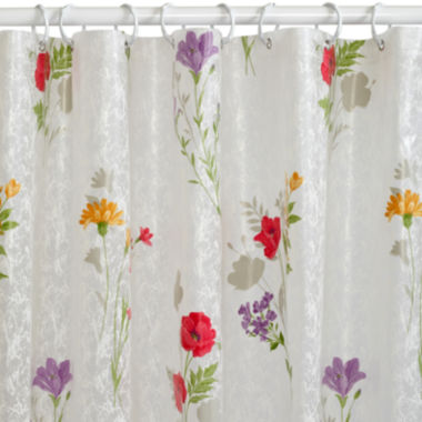 jcpenney.com | India Ink Wild Flower PEVA Shower Curtain