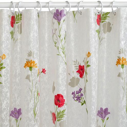 India Ink Wild Flower PEVA Shower Curtain