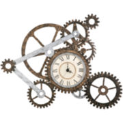"Oversized 40.5"" Mechanics Wall Art with Clock"