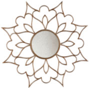 Tula Floral Round Wall Mirror