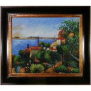 The Sea at L'Estaque Framed Canvas Wall Art
