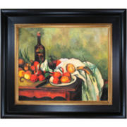 Still Life with Onions Framed Canvas Wall Art