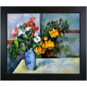 Still Life: Flowers in a Vase Framed Canvas Wall Art