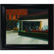 Night Hawks, 1942, Framed Canvas Wall Art