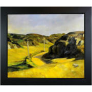 Road in Maine Framed Canvas Wall Art