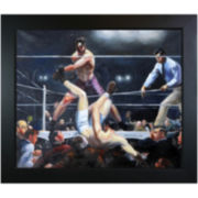 Dempsey and Firpo Framed Canvas Wall Art