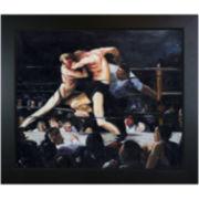 Stag Night at Sharkey's Framed Canvas Wall Art