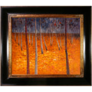 Beech Forest I Framed Canvas Wall Art