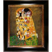 The Kiss Framed Canvas Wall Art