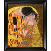 The Kiss (Detail) Framed Canvas Wall Art
