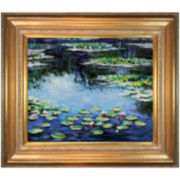 Water Lilies, 1906 Framed Canvas Wall Art