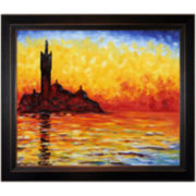 San Giorgio Maggiore by Twilight Framed Canvas Wall Art