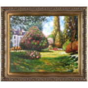 Il Parco Monceau Framed Canvas Wall Art