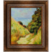 Chemin de la Cavée, Pourville Framed Canvas Wall Art