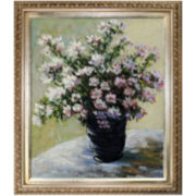 Vase of Flowers Framed Canvas Wall Art