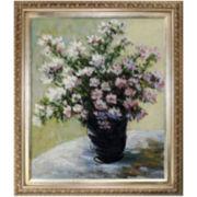 Vase of Flowers Framed Canvas Wall Art