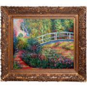 The Japanese Bridge Framed Canvas Wall Art