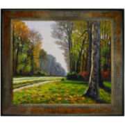 The Road to Bas-Breau, Fontainebleau Framed Canvas Wall Art