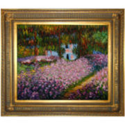 Artist's Garden at Giverny Framed Canvas Wall Art