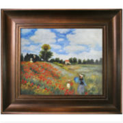 Poppy Field near Argenteuil Framed Canvas Wall Art