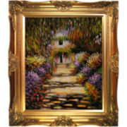 Garden Path at Giverny, 1902 Framed Canvas Wall Art