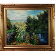 Corner of the Garden at Montgeron Framed Canvas Wall Art