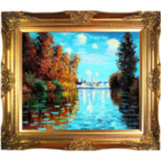 Autumn at Argenteuil Framed Canvas Wall Art
