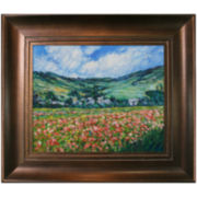 Poppy Field near Giverny Framed Canvas Wall Art
