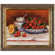 Strawberries Framed Canvas Wall Art