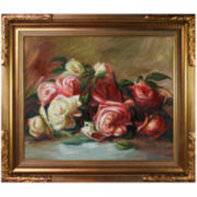 Discarded Roses Framed Canvas Wall Art