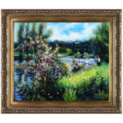 The Seine at Chatou Framed Canvas Wall Art