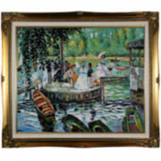 La Grenouillère (The Frog Pond) Framed Canvas Wall Art