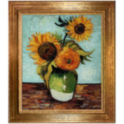 Sunflowers, First Version, Framed Canvas Wall Art