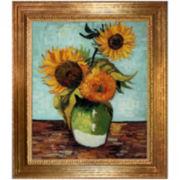 Sunflowers, First Version, Framed Canvas Wall Art