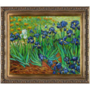Irises Framed Canvas Wall Art