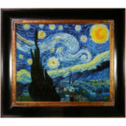 Starry Night Framed Canvas Wall Art