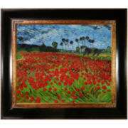 Field of Poppies Framed Canvas Wall Art