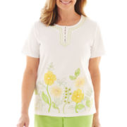 Alfred Dunner® Fresh Picked Floral Knit Top