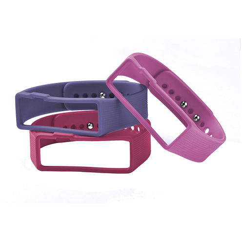 Nuband Womens 3-pk. Interchangeable Silicone Sport Watch Bands