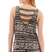 Decree® Sleeveless Bar-Back Tank Top